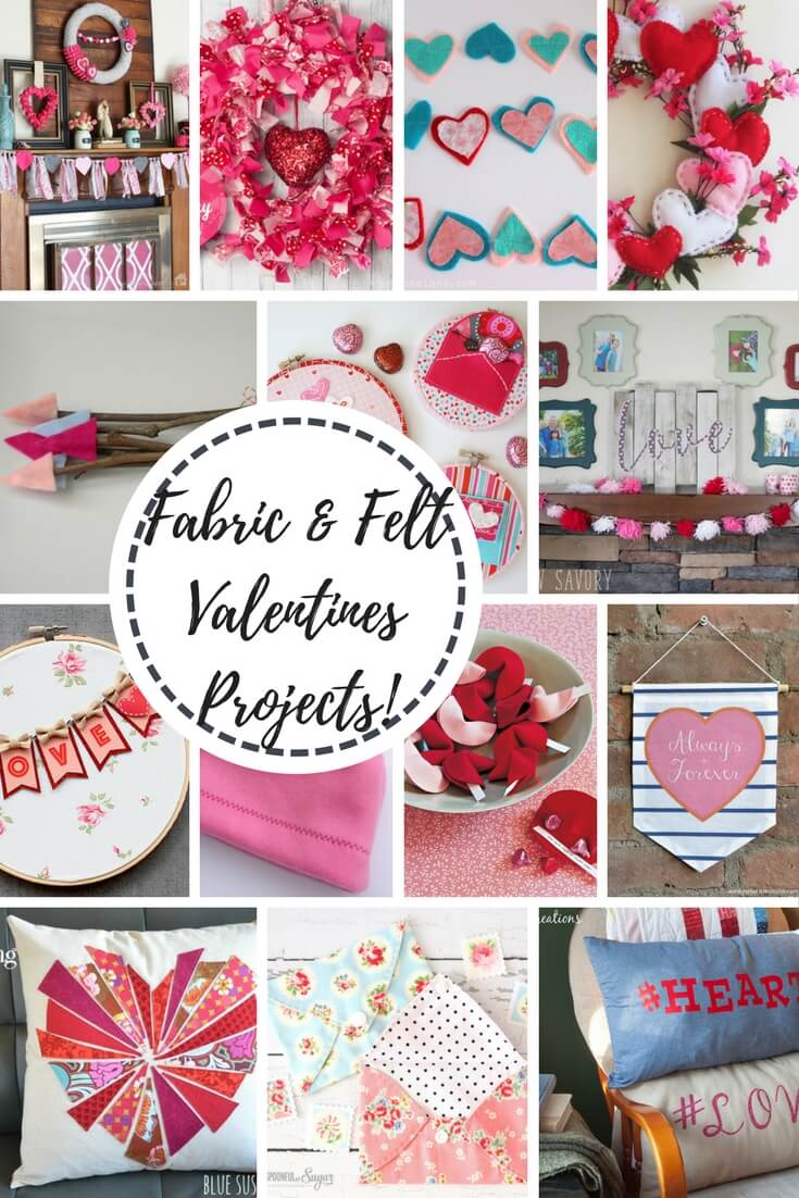 Fabric and Felt Valentines Projects and tutorials from Life Sew Savory