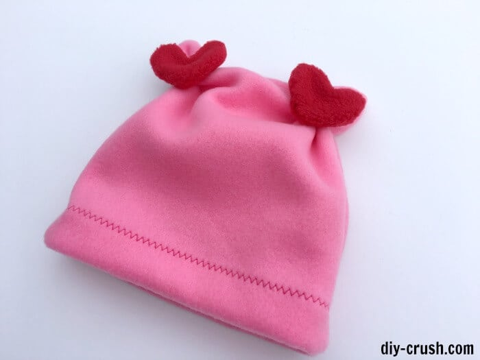 fleece valentines hat