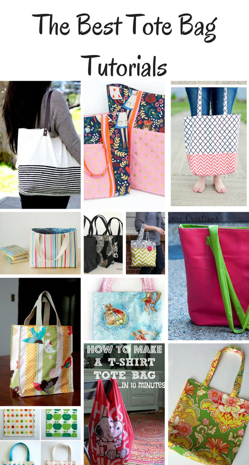 The Best Tote Bag Tutorials a collection of sewing tutorials from Life Sew Savory