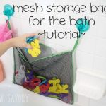 Bath Toy Storage Bag Tutorial