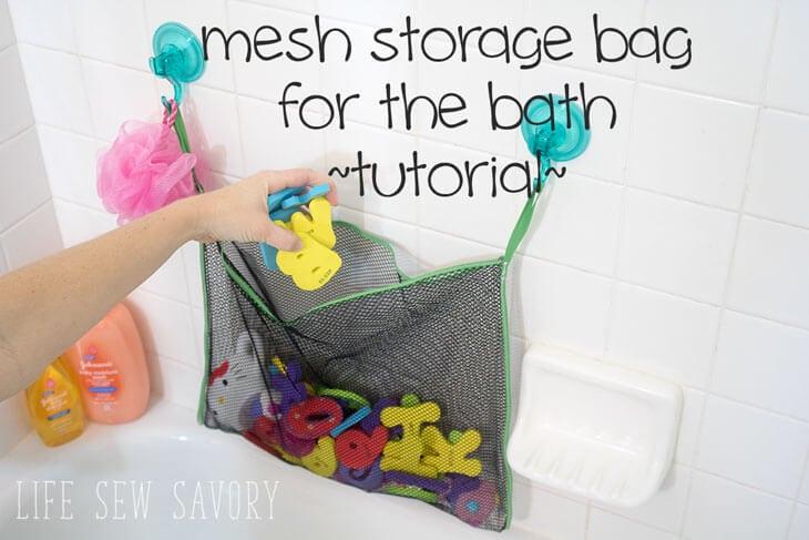 Bath Toy Storage Bag Tutorial