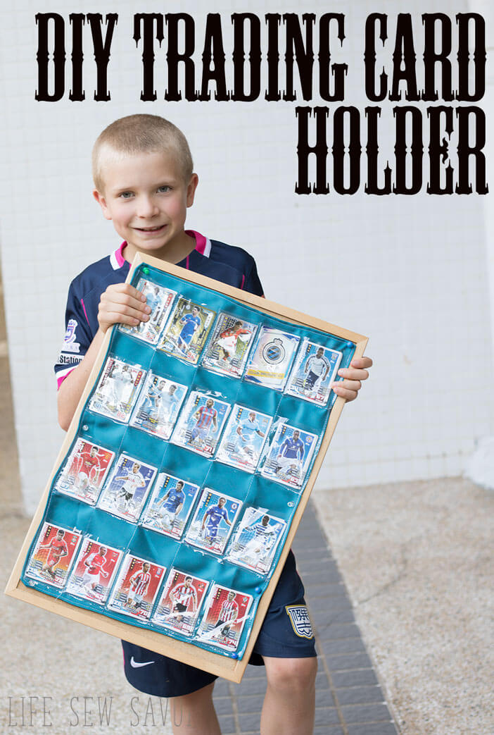trading card holder - an easy sewing tutorial for kids collections from Life Sew Savory