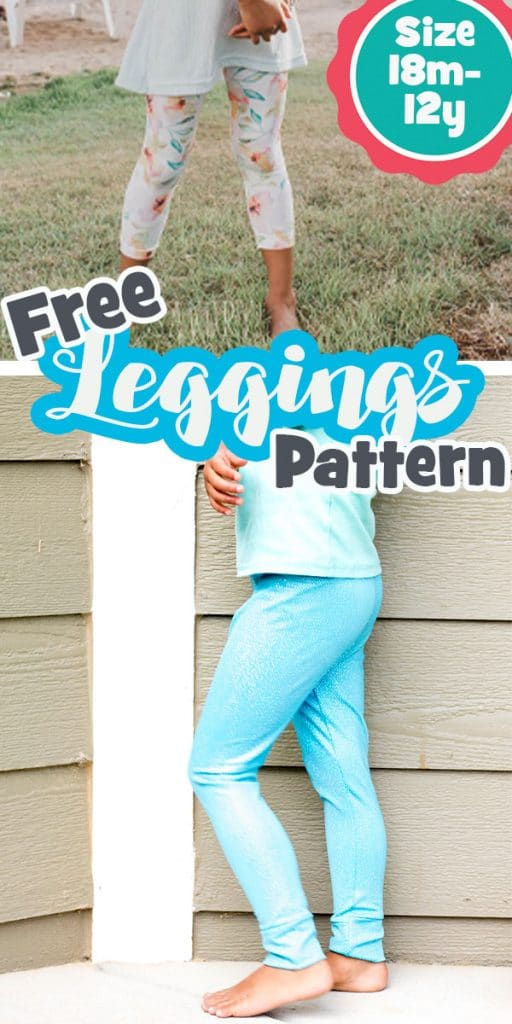 How to sew leggings with a free pdf pattern tutorial and downloadable pattern