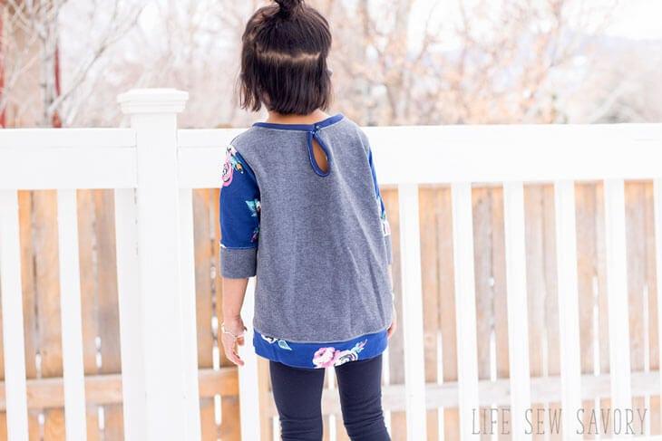 girls sweatshirt tunic free sewing pattern