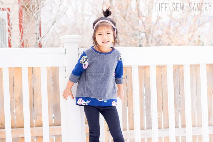 Free Sewing Pattern - Girls Sweatshirt Tunic - Life Sew Savory