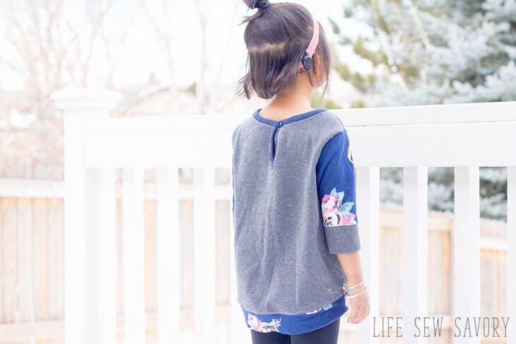 Free Sewing Pattern Girls Sweatshirt Tunic Life Sew Savory