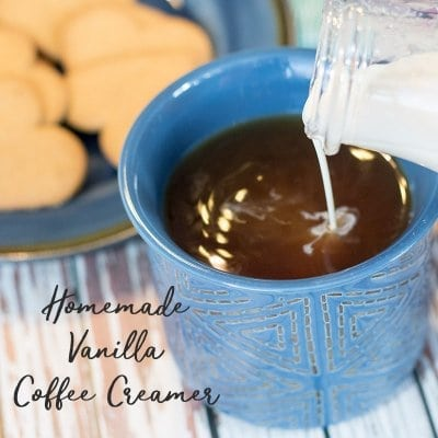 Homemade Coffee Creamer with vanilla
