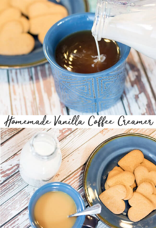 homemade coffee creamer with vanilla from Life Sew Savory