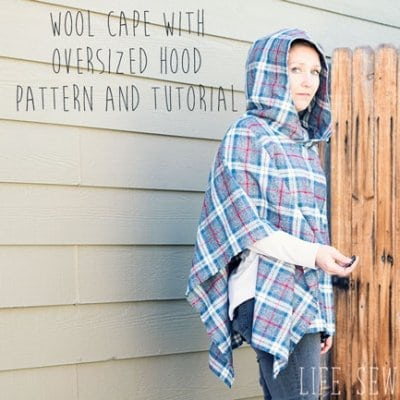 Hooded Wool Cape Sewing Tutorial