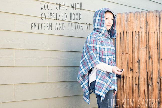 Hooded Wool Cape Sewing Tutorial
