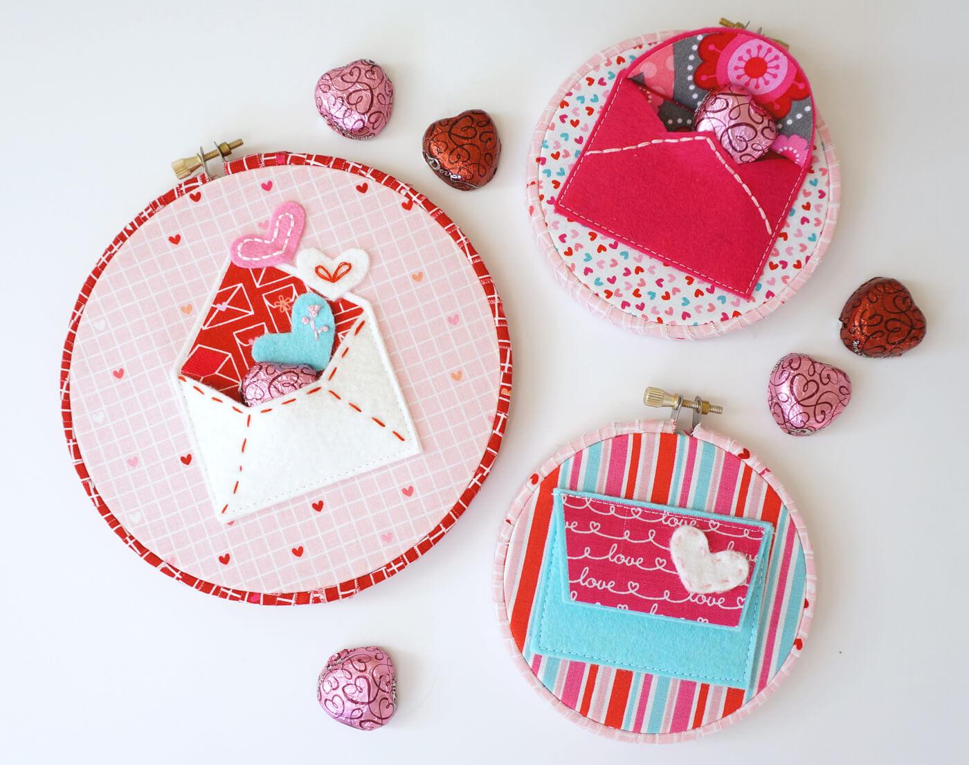 felt Valentines envelope patter