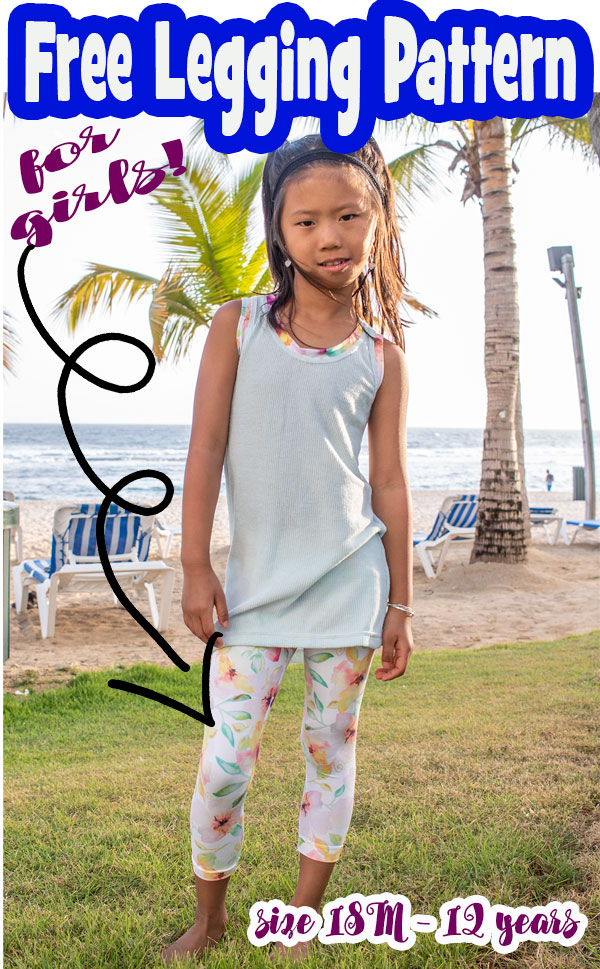 free legging pattern for kids pdf download and sewing tutorial
