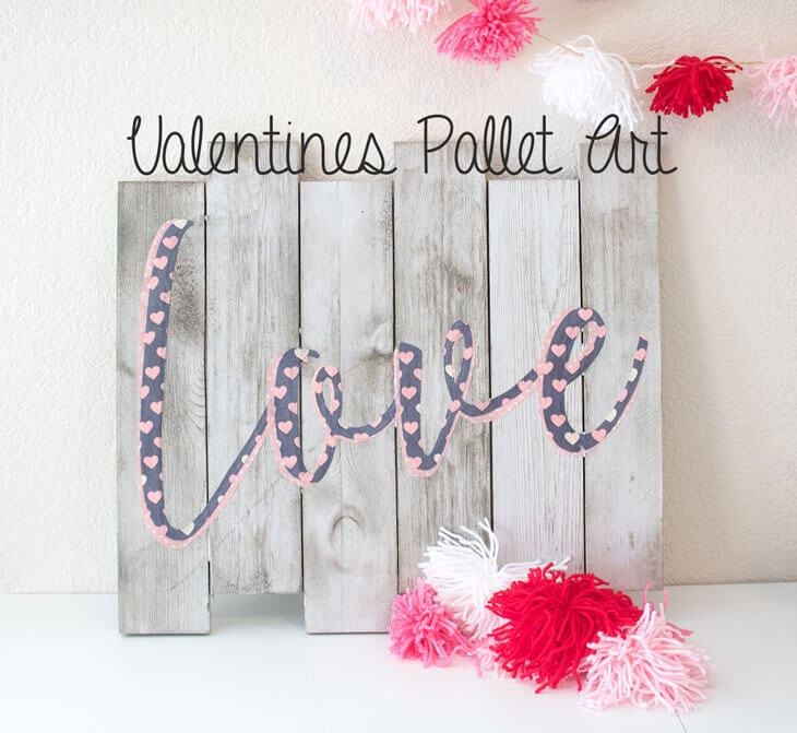 Pallet art with fabric