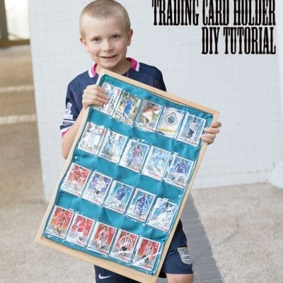 Trading Card Holder DIY tutorial