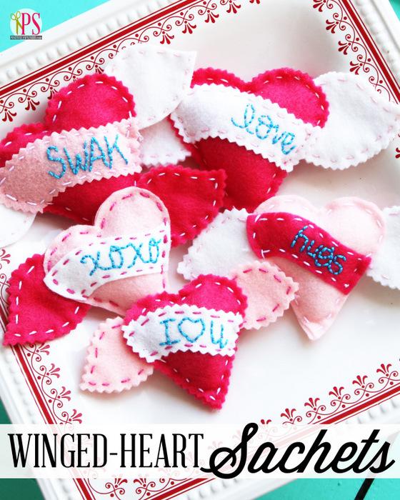 felt valentines crafting