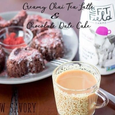 Creamy Chai Tea Latte Recipe + Chocolate Date Cake