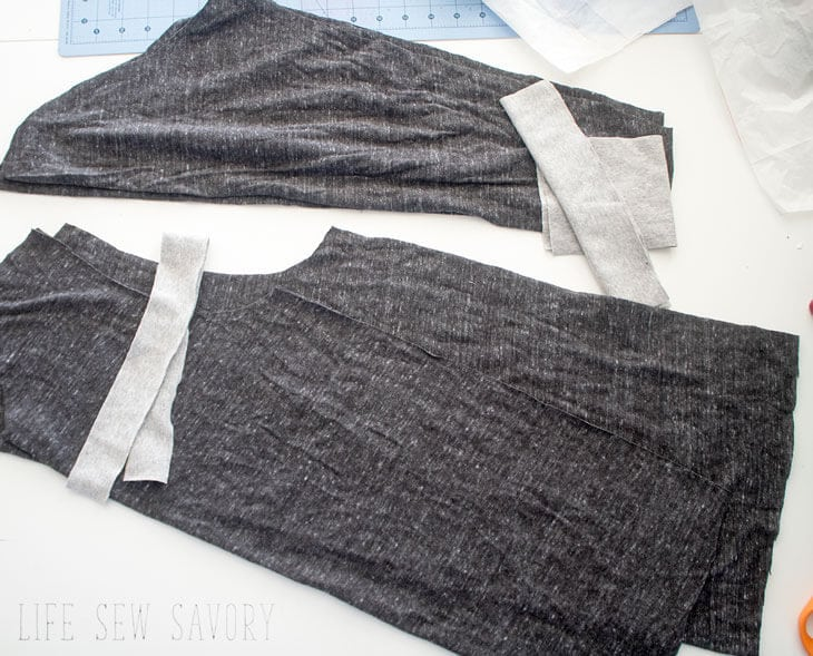 all the piece needed for t shirt sewing pattern