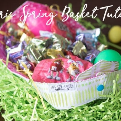 Fabric Basket Tutorial for Spring