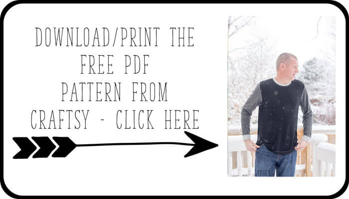Men\'s T-Shirt Free Sewing Pattern - Life Sew Savory