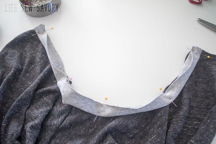 stretch neck binding