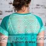 lace back t-shirt dress