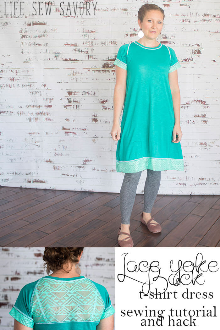 T-Shirt Dress Tutorial sewing project and tutorial from Life Sew Savory