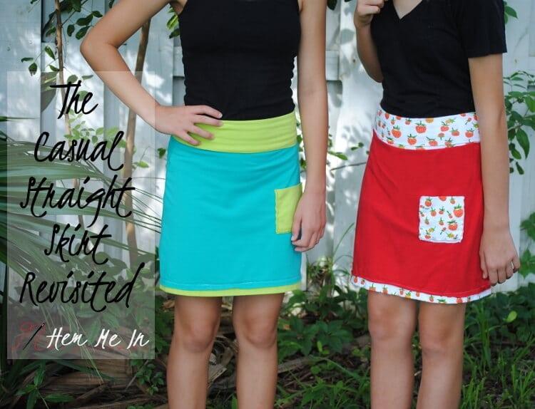simple straight skirt free pattern