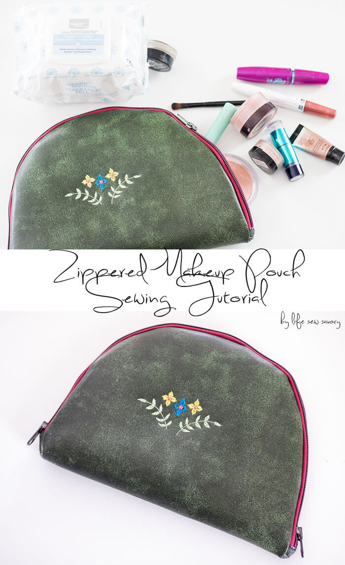 DIY zipper pouch sewing-tutorial-from-Life-Sew-Savory Walmart and Equate Beauty Fragrance Free Makeup Remover Towelettes in your description #CleanFaceWithEquate #Pmedia #ad