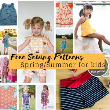 Free Sewing Patterns for kids springsummer 2018 social