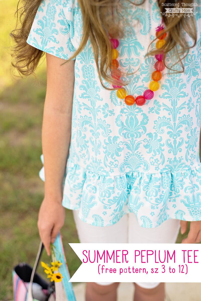 free summer peplum pattern