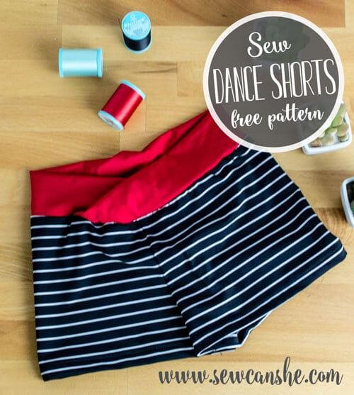 free dance shorts pattern