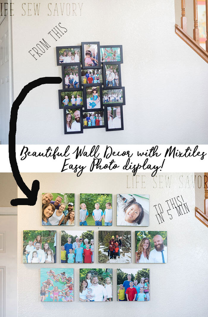 Easy photo wall decor mixtiles review and installation - Photo decoration on wall ...