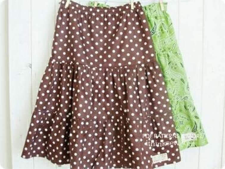 layered skirt free pattern