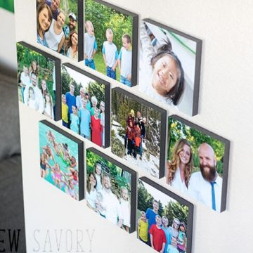 Easy photo wall decor