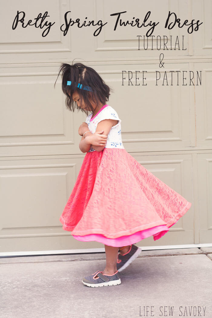 Girls Dress Sewing Pattern for Easter from Life Sew Savory