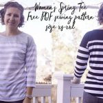 Free Sewing Pattern – Women's Spring Tee