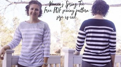 free sewing pattern womens spring tee size xs-xxl from life sew savory