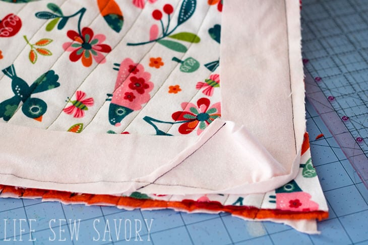 Flannel binding for Blanket tutorial