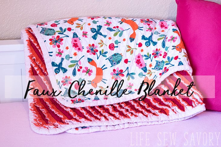 Faux Chenille Blanket Sewing Tutorial