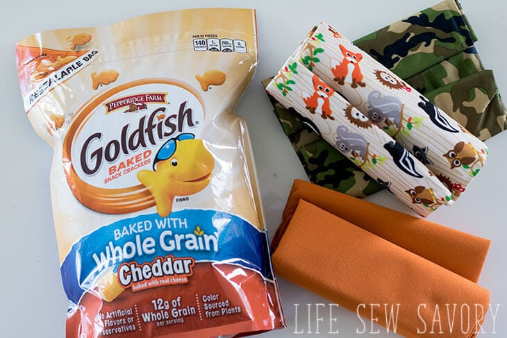 on the go snacking with goldfish