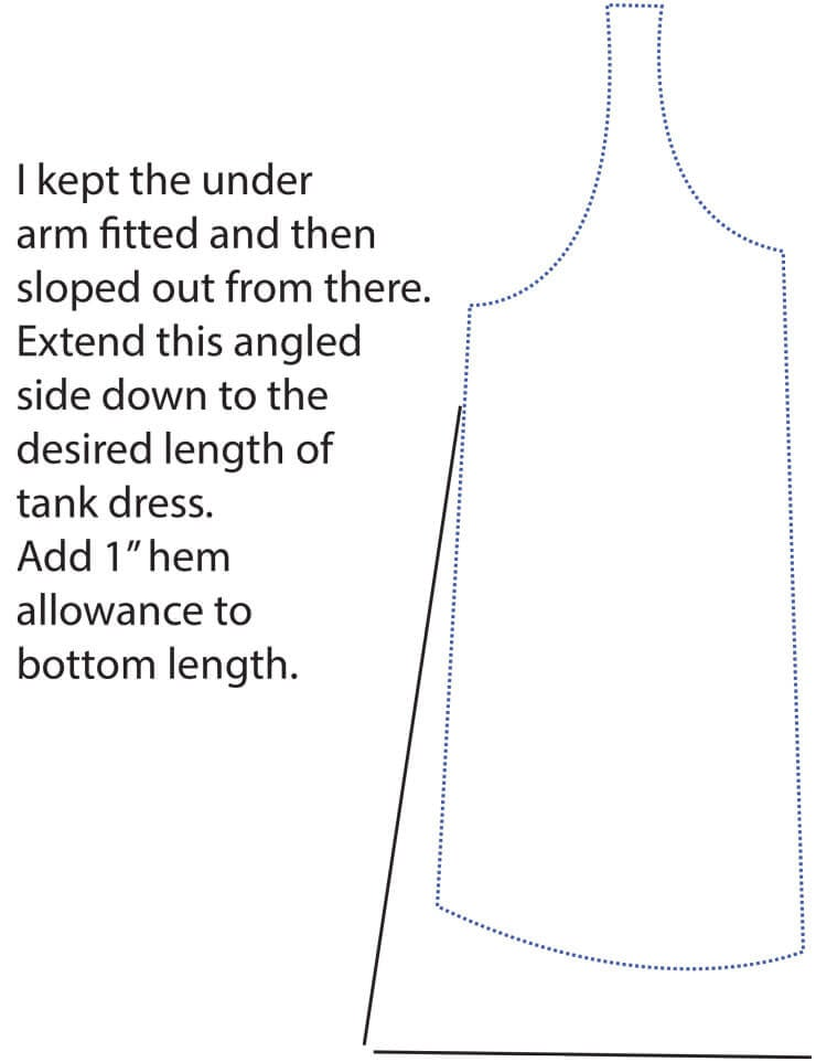 tank dress sewing tutorial with free pattern