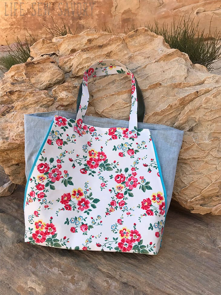 side zip tote bag pattern