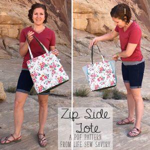 zip side tote pattern release