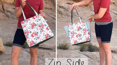 zip side tote pattern release