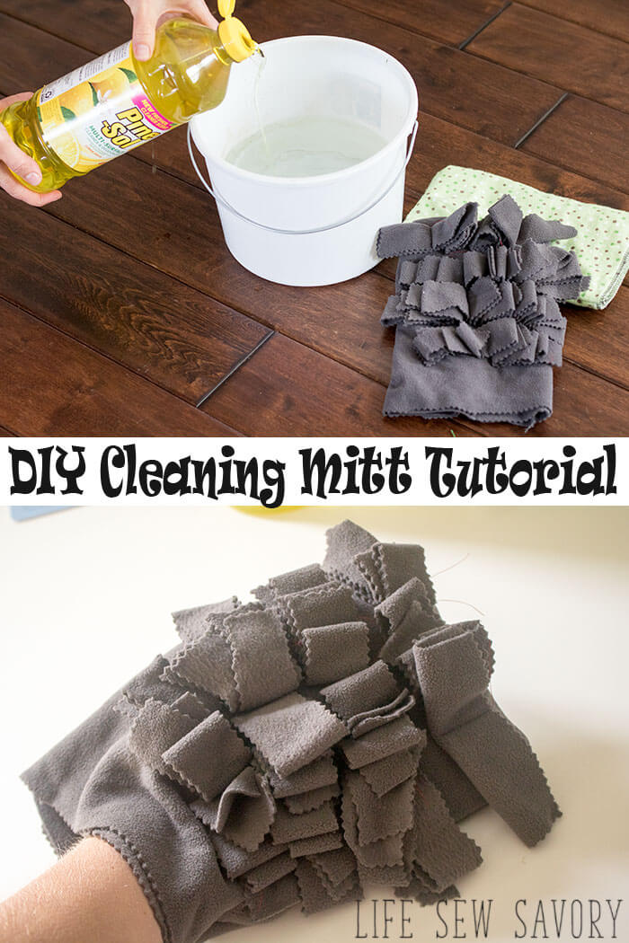DIY cleaning Mitt sewing tutorial and home cleaning hacks from Life Sew Savory