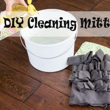 DIY cleaning Mitt tutorial