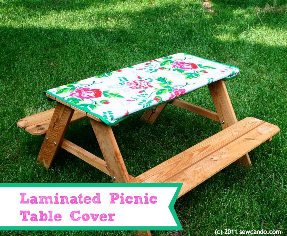 picnic table cover outdoor sewing project