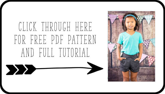 free printable pdf pattern for girls shorts