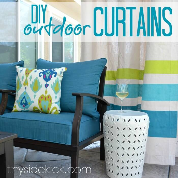 outdoor sewing projects curtains