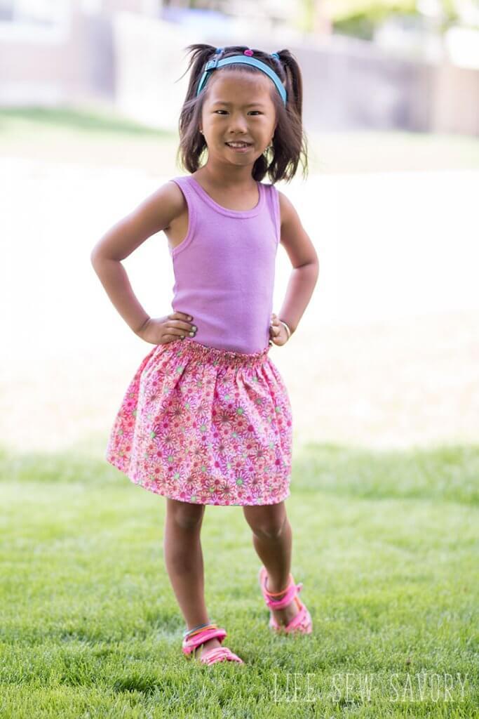 shirred skirt tutorial